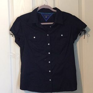 Tommy Hilfiger button-up shortsleeve blouse